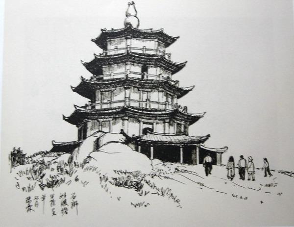 钢笔风景速写图片 欧洲建筑速写钢笔画