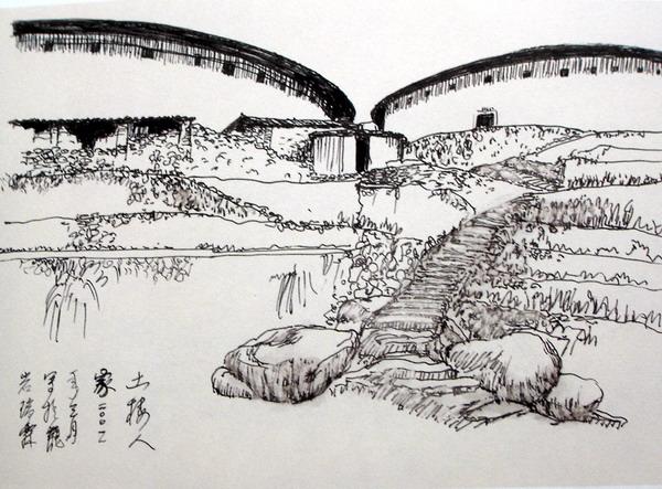 黄瑞霖钢笔画速写作品出版广受欢迎/八闽风姿